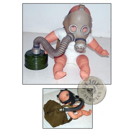 """SOVIET UNION GAS MASKS """"PDF BABYS UNDER 4 YEARS"""" COMPLETE AND NEW"""