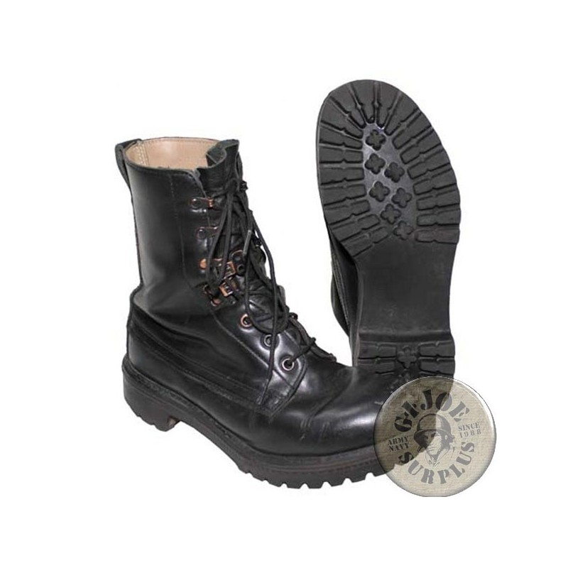 """BRITISH ARMY BLACK LEATHER """"BOOTS HIGH DMS"""" USED GRADE1 CONDITION"""