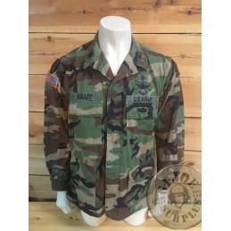 US ARMY 75TH DIV LIUTENANT CORONEL WOODLAND BDU JACKET /UNIQUE PIECE