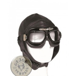 PILOT LEATHER HELMET /BLACK COLOUR