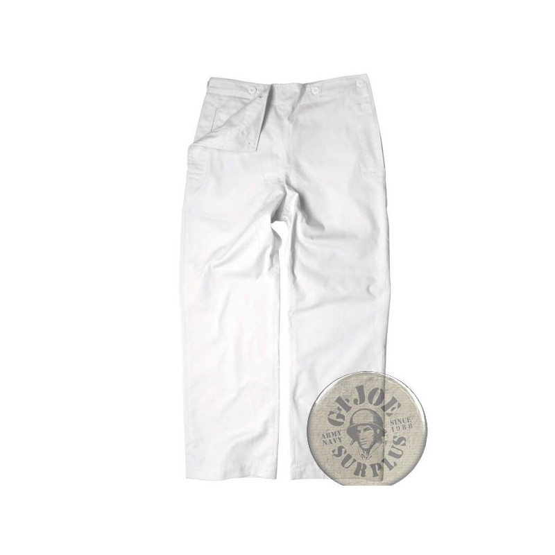 "GERMAN NAVY ""SAILOR TROUSERS"" WHITE COLOUR NEW"