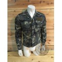 SPANISH ARMY WOODLAND RIPSTOP CAMO FIELD JACKETS USED
