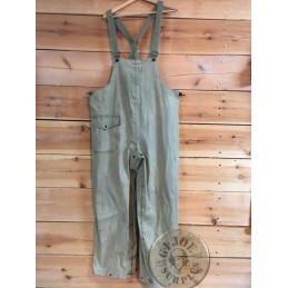 PANTALONES-PETO IMPERMEABLE US NAVY WWII/PIEZA UNICA